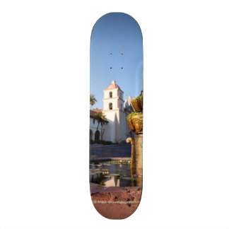 Santa Barbara Mission Fountain Skate Board Decks