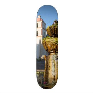 Santa Barbara Mission Fountain Skate Deck