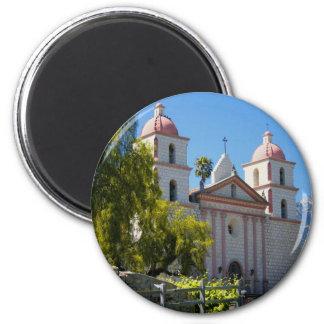 Santa Barbara Mission 6 Cm Round Magnet