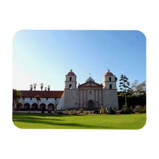 Santa Barbara Mission Rectangle Magnets
