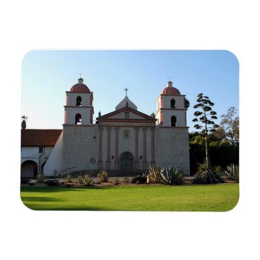 Santa Barbara Mission Vinyl Magnet