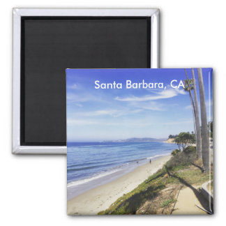 Santa Barbara Montecito California Butterfly Beach Square Magnet