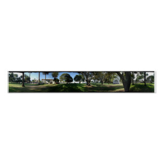 Santa Barbara Panorama- Pershing Park Poster