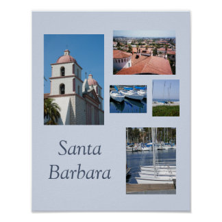 Santa Barbara Photo Gallery Template Poster