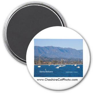 Santa Barbara Sailboats Products, California 7.5 Cm Round Magnet