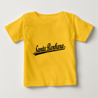 Santa Barbara script logo in black distressed Baby T-Shirt