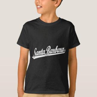Santa Barbara script logo in white T-Shirt