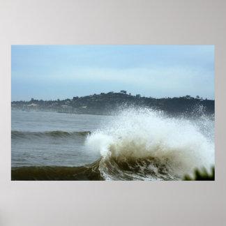 Santa Barbara surfing Poster