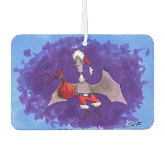 Santa Bat car air freshener (2 sided)