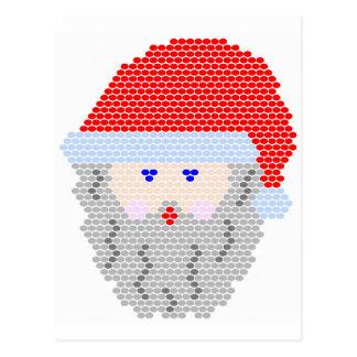Santa Bead Pattern Postcard