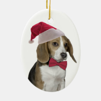 Santa Beagle Ornament