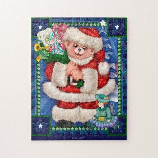 SANTA BEAR CHRISTMAS 11x14 Photo Puzzle + Gift BOX