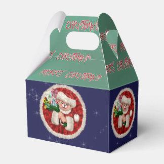 SANTA BEAR CHRISTMAS CARTOON Gable Favor Box