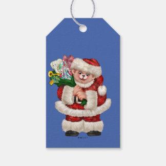 SANTA BEAR CHRISTMAS Gift Tag