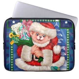"SANTA BEAR CHRISTMAS Neoprene Laptop Sleeve 13 """