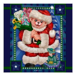 SANTA BEAR CHRISTMAS Perfect Poster Glossy Finish