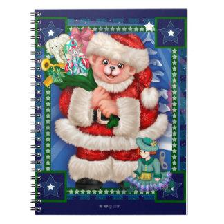 SANTA BEAR CHRISTMAS Photo Notebook (80 Pages B&W)