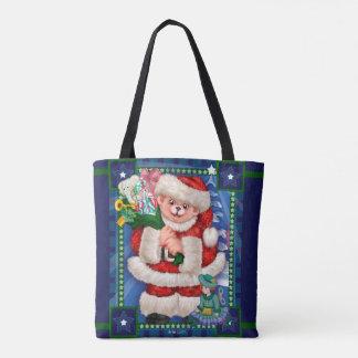 Santa Bear Custom All-Over-Print Tote Bag