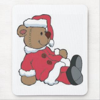Santa Bear Mouse Pad