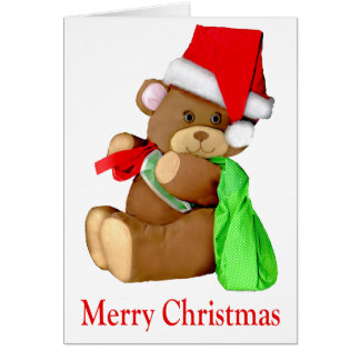 Santa Bear WishesYou a Merry Christmas Card