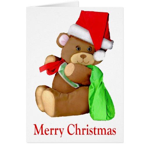 Santa Bear WishesYou a Merry Christmas Cards