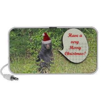 Santa Bear Wishing You a Merry Christmas Travel Speaker