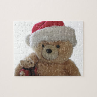 Santa bear with little bear jigsaw puzzle