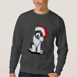 Santa Bearded Collie Apparel Sweatshirt