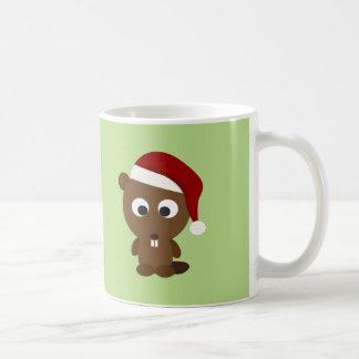 Santa Beaver Coffee Mug