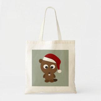 Santa Beaver Tote Bag