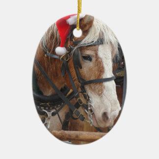 Santa Belgian Christmas Ornament