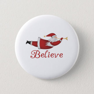 Santa Believe 6 Cm Round Badge
