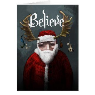 """Santa """"Believe"""" Card"""