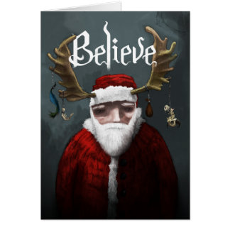 "Santa ""Believe"" Card"