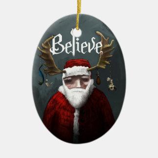 "Santa ""Believe"" Christmas Ornament"