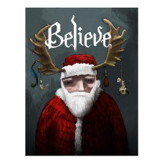 "Santa ""Believe"" Postcard"