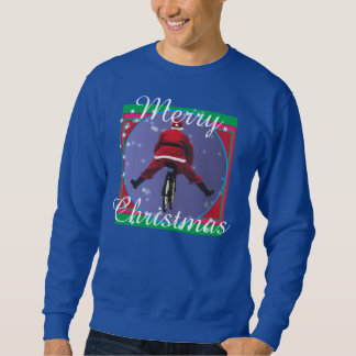 Santa biking Ugly Christmas Sweater