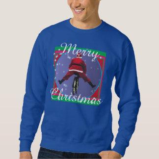Santa biking Ugly Christmas Sweater
