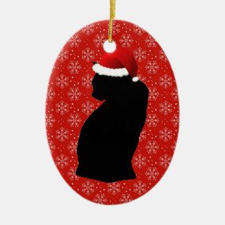 Santa Black Cat Ornament