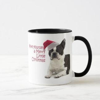 Santa Boston Terrier Mug