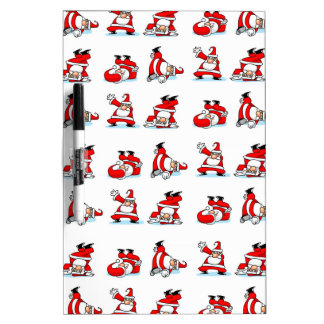 Santa Breakdance Wallpaper Dry Erase Board