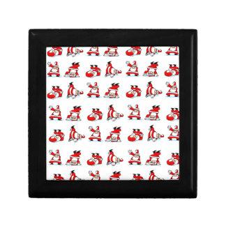 Santa Breakdance Wallpaper Small Square Gift Box