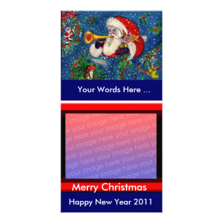 SANTA  BUGLER / CHRISTMAS NIGHT PERSONALISED PHOTO CARD
