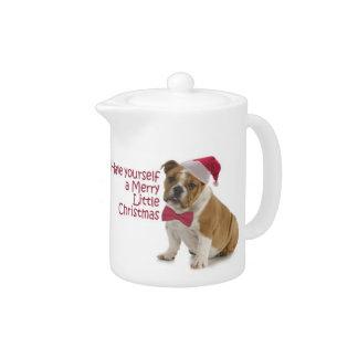 Santa Bulldog Teapot