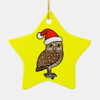 Santa Burrowing Owl Christmas Ornament