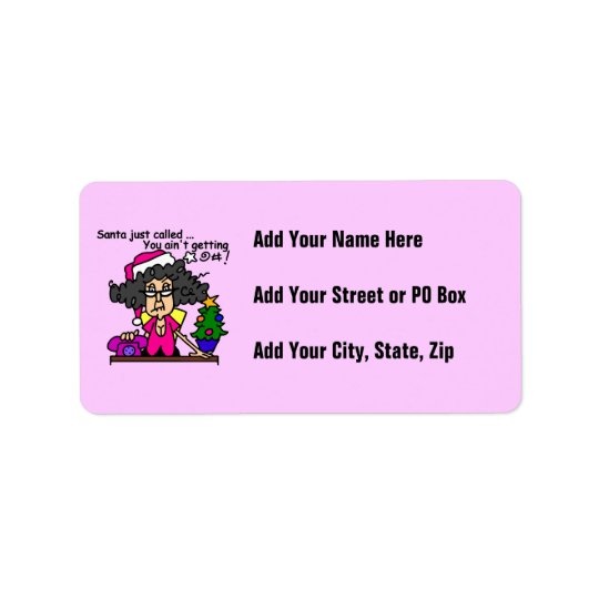 Santa Called Address Label