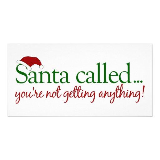 Santa Called Photo Card Template