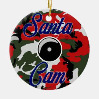 Santa Cam Christmas Camo Ornament/Santa Camera Cam Christmas Ornament
