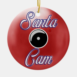 Santa Cam Christmas Ornament/Santa Camera Red Christmas Ornament