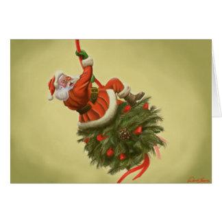 Santa came in like a wrecking ball card